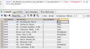 Klausa IF di perintah SQL