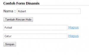 Form Input Dinamis
