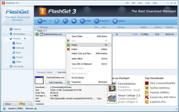 FlashGet Downloader, Aplikasi Alternatif Pengganti Internet Download Manager