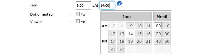 Jquery untuk Input Jam dan Menit