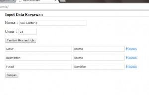 Proses Form Dinamis Dengan PHP MySQL