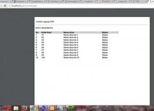 Membuat Laporan PDF