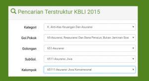 Klasifikasi Baku Lapangan Usaha Indonesia (KBLI) 2015