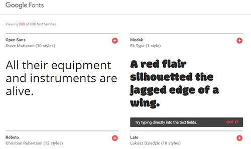 Panduan Menggunakan Google Fonts