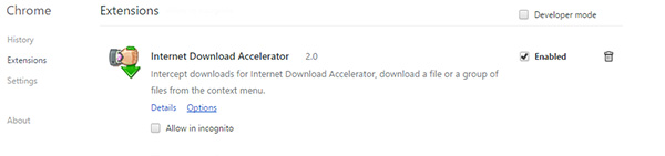 Cara aktifkan Internet Download Accelerator Extensions