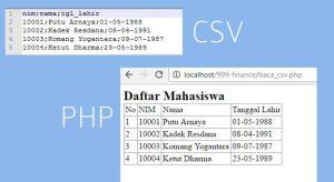 Menampilkan CSV dengan PHP