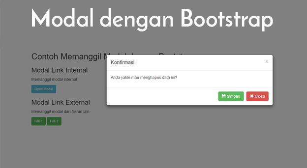 Menampilkan Modal dengan Bootstrap