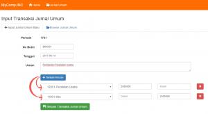 Form Input Penerapan Form Input Dinamis pada Pembuatan Transaksi Jurnal Umum Akuntansi