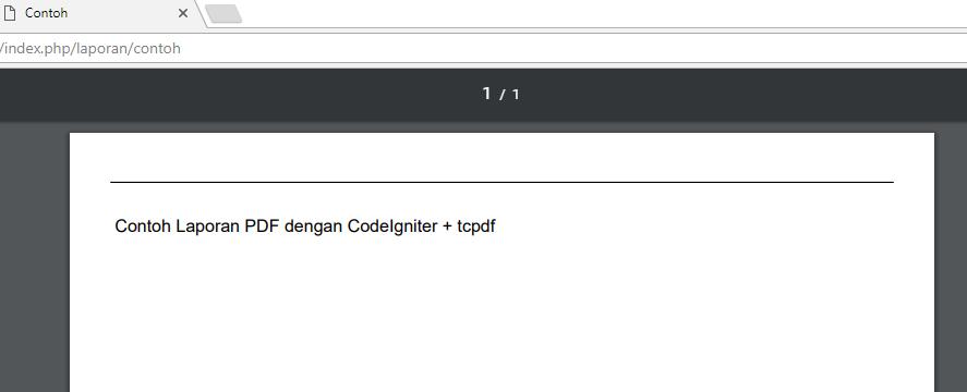 Contoh tampilan Laporan PDF dengan CodeIgniter dan TCPDF