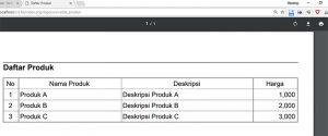 Menampilkan database pada Laporan PDF dengan CodeIgniter dan TCPDF