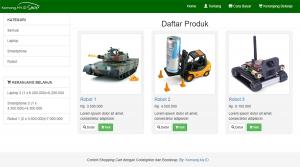 Membuat Shopping Cart dengan CodeIgniter dan Bootstrap: Tampilan Awal