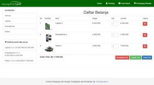 Membuat Shopping Cart dengan CodeIgniter dan Bootstrap : View Cart