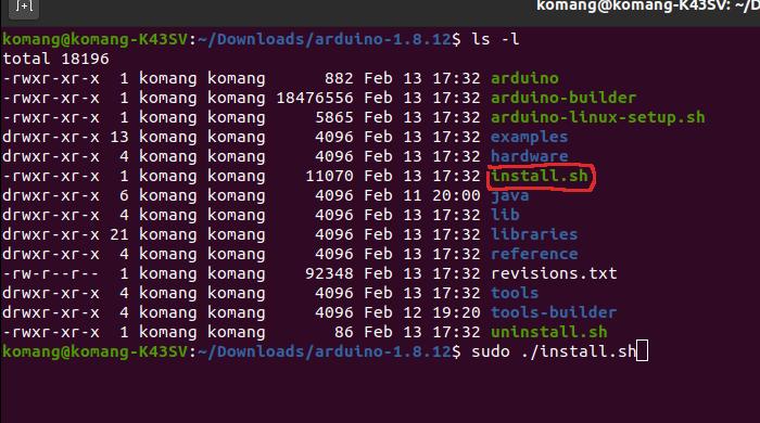 Cara install Arduino IDE pada Ubuntu