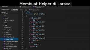 Membuat Helper di Laravel